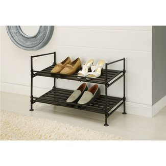 2-Tier 6 Pair Shoe Rack
