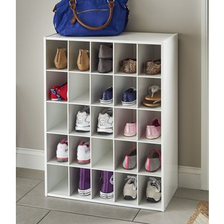 25-Compartment 25 Pair Shoe Rack