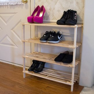 4-Tier 12 Pair Shoe Rack