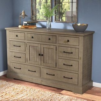 Buford 9 Drawer Combo Dresser