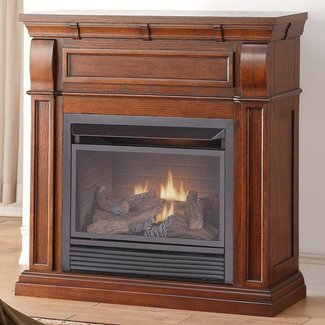 Chestnut Dual Fuel Fireplace