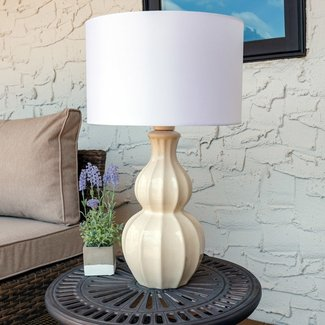 "Curved Ceramic 26"" Desk Lamp"