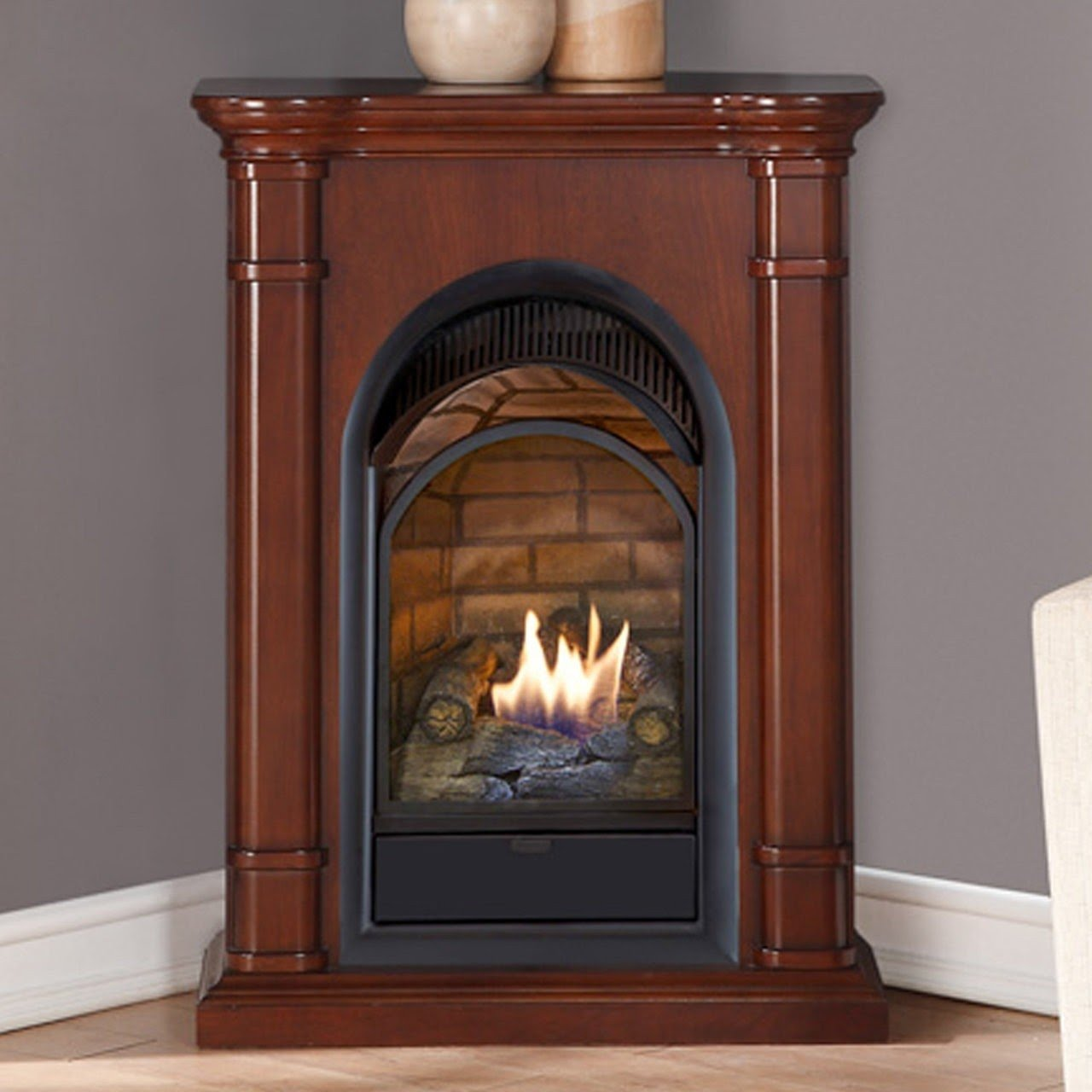 title | Corner Gas Fireplace