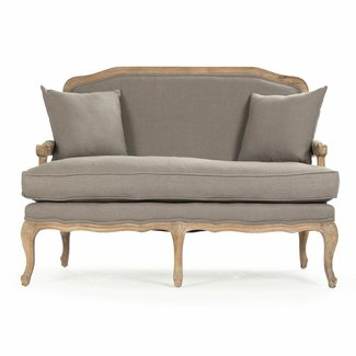Traditional Design For An Old Fashioned Loveseat Couch With A Contemporary Twist The Frame Made Out Of Bright Birch Wood Distressed Coat White