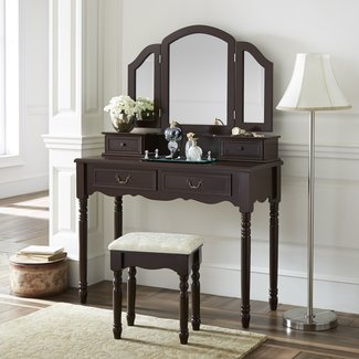 Felda Elegant Dressing Vanity Set with Mirror