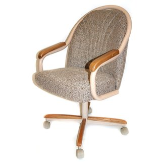 Gentry Mid-Back Dining Caster Chair with Arms