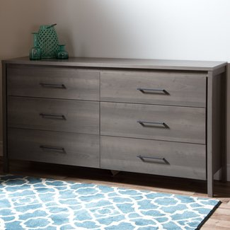 Gravity 6 Drawer Double Dresser