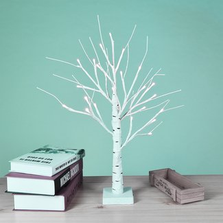 Henriqueta Birch Tree 18'' Table Lamp