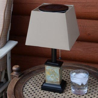 "Isabel Outdoor Square Solar 16.5"" Table Lamp"