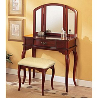 Livingston 3-Piece Vanity Set with Trifold Mirror
