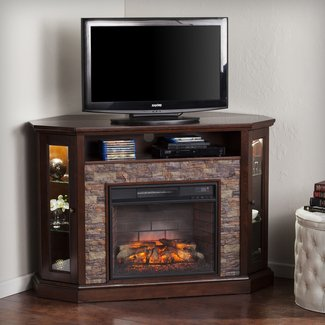 "Montpelier Corner Convertible 50"" TV Stand with Fireplace"