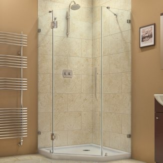 "Prism Lux 38"" x 38"" x 72"" Neo-angle Hinged Shower Enclosure"