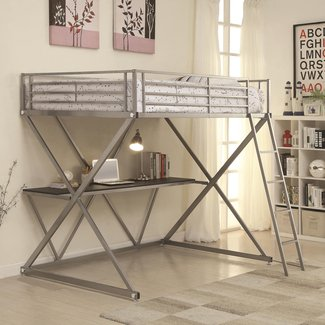 Rachelle Workstation Loft Bunk Bed with Desk