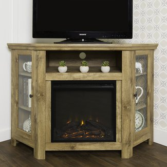 "Rena Corner 48"" TV Stand with Fireplace"