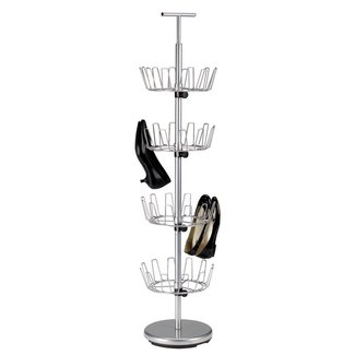 Revolving 4-Tier 24 Pair Shoe Rack