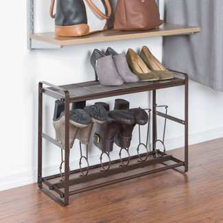 Space Saving Tilt-Out Boot Storage