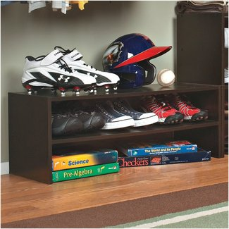 Stackable Horizontal 2-Tier Shoe Rack