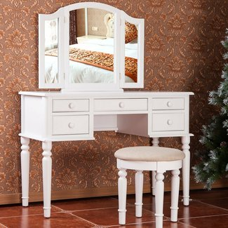 50 Makeup Vanity Table With Lighted Mirror You Ll Love In
