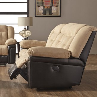 Waddells Leather Manual Recliner