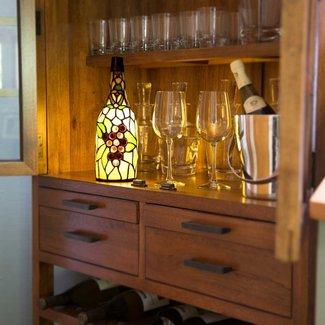 """Wine Bottle Tiffany 12.5"""" Lamp"""
