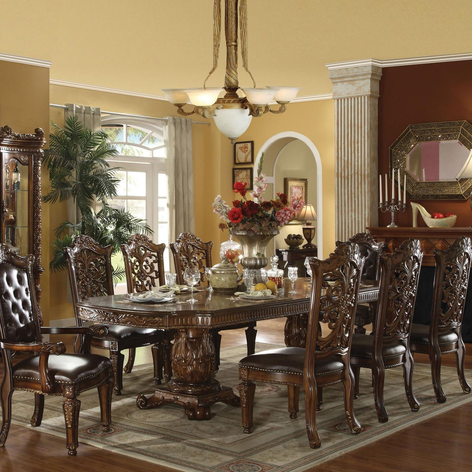 50 Double Pedestal Dining Table You Ll Love In 2020 Visual Hunt