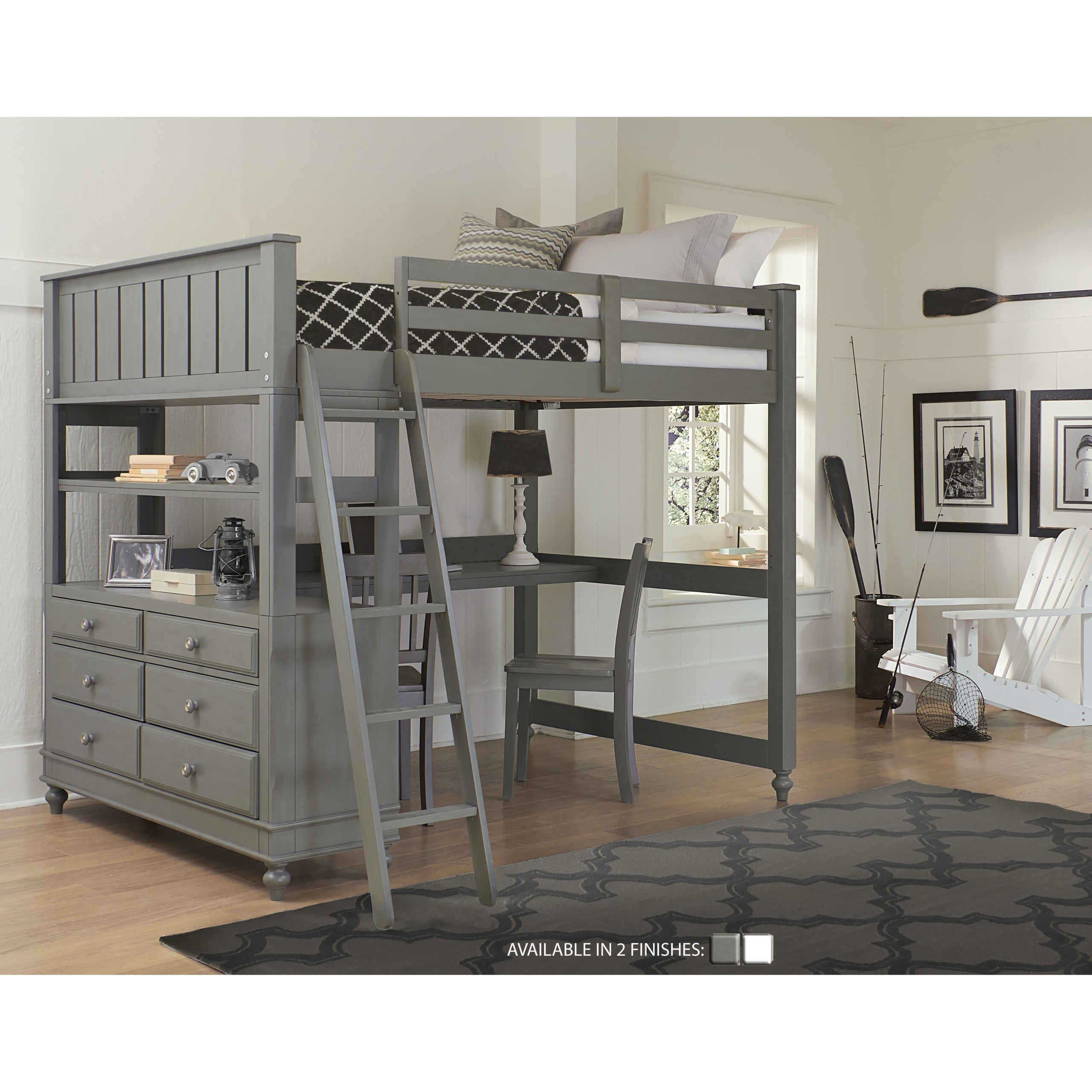 Picture of: Full Size Loft Bed With Desk You Ll Love In 2020 Visualhunt