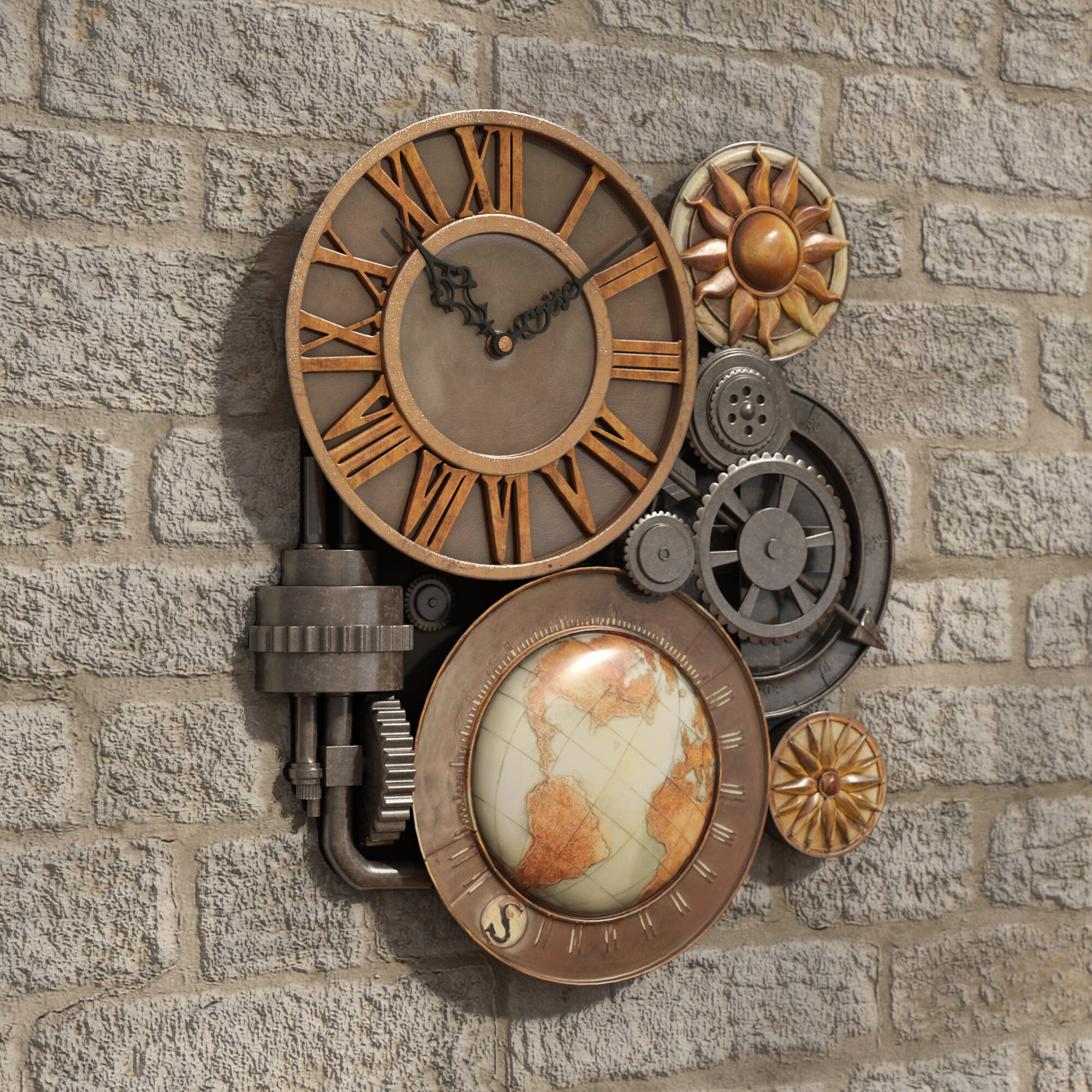 Large Decorative Wall Clocks For Sale You Ll Love In 2021 Visualhunt