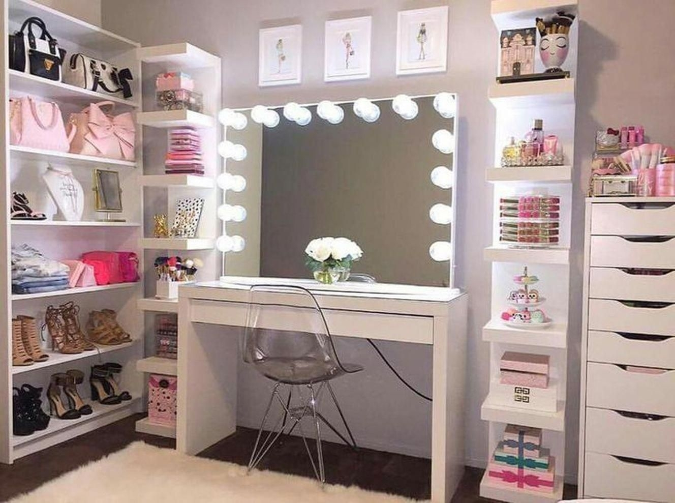 50 Makeup Vanity Table With Lights You Ll Love In 2020 Visual Hunt