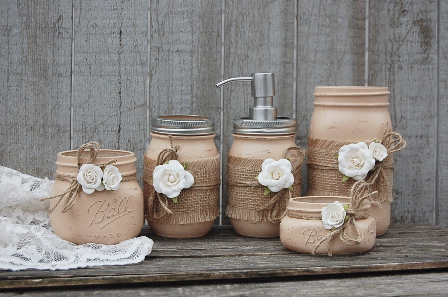 Shabby Chic Mason Jars You Ll Love In 2021 Visualhunt