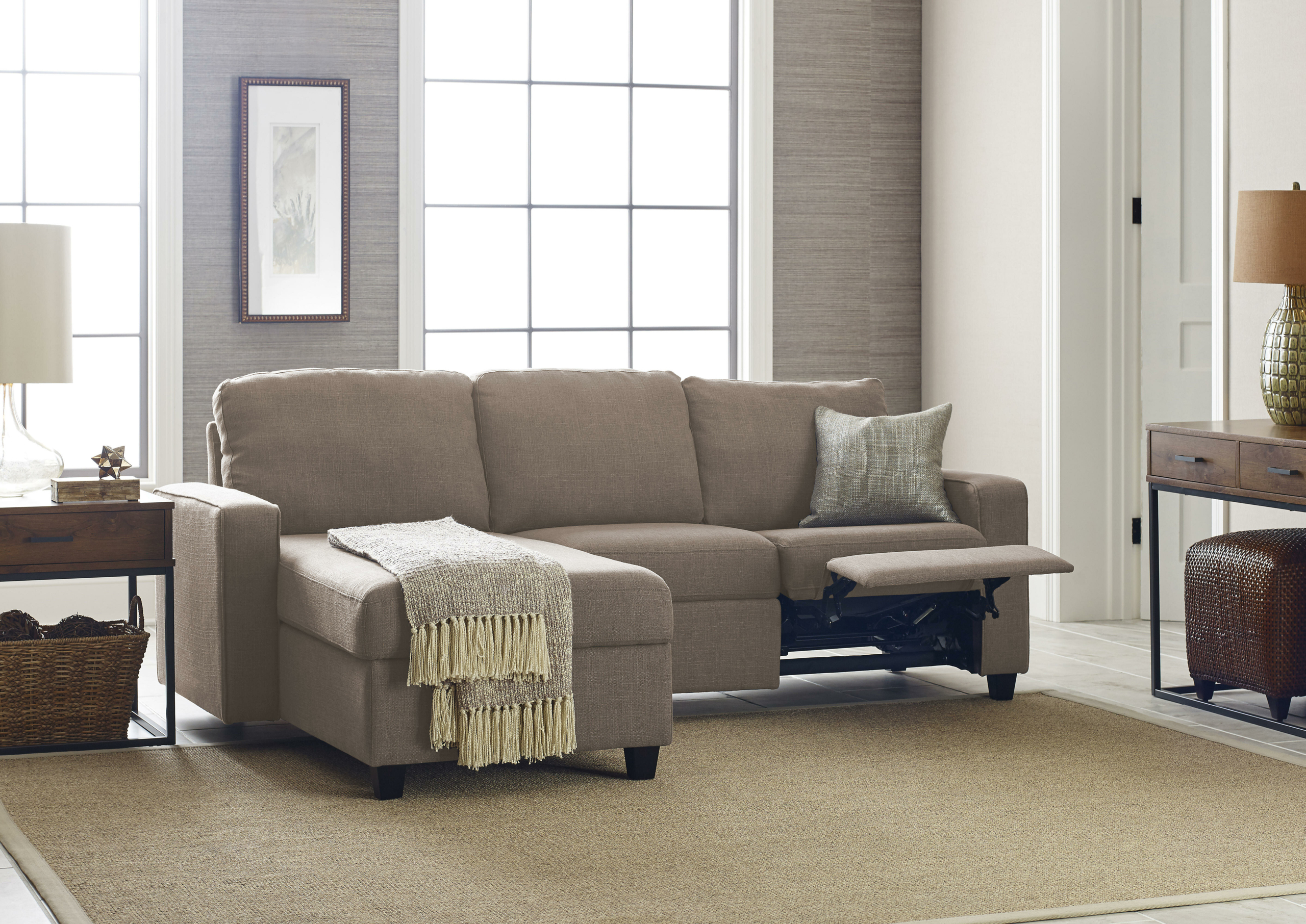 Picture of: Small Sectional Sofa With Recliner You Ll Love In 2020 Visualhunt